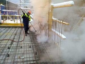 Eskate Oy:n suorittama rakennustyömaan höyrytys